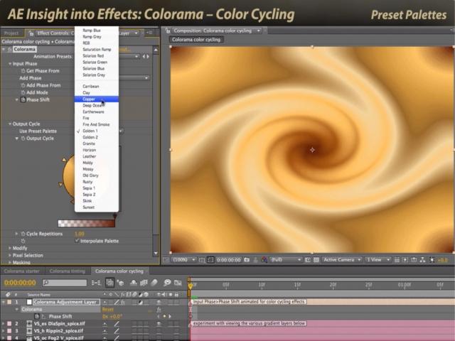 چرخه ی رنگ یا تغییر پالت در گرافیک