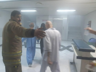 آتش سوزی در بیمارستانی در خیابان حافظ تهران
