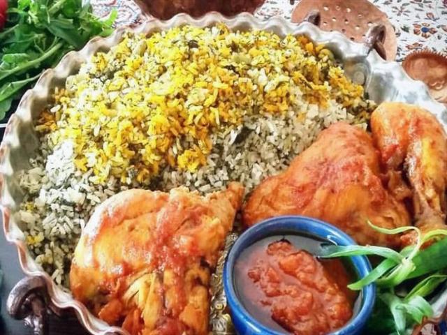 سبزی پلو با مرغ ؛ با طعم و پخت متفاوت