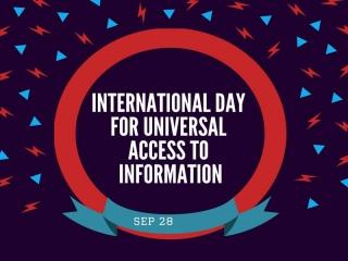 28 سپتامبر ، روز جهانی دسترسی آزاد و فراگیر به اطلاعات