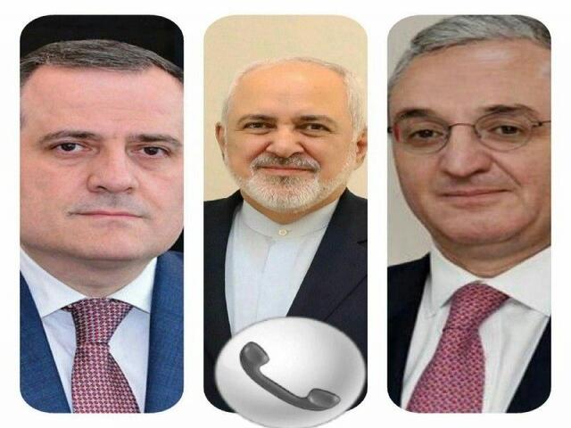 رایزنی ظریف با وزیران امور خارجه آذربایجان و ارمنستان در پی بروز درگیری نظامی بین ایروان و باکو