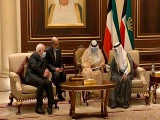 دکتر ظریف با امیر جدید کویت دیدار کرد