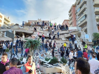وقوع زلزله مهیب در ترکیه/زلزله هفت ریشتری و تخریب ساختمان ها